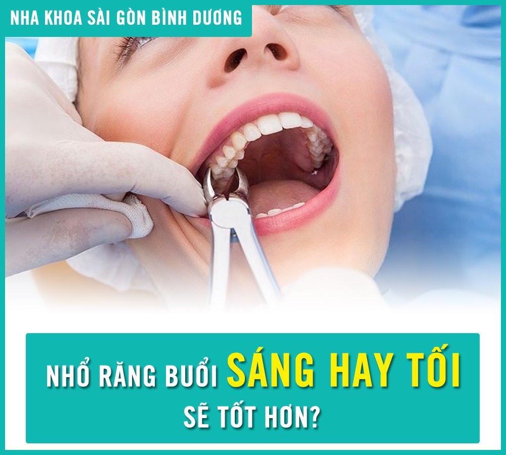 Nhổ răng buổi sáng hay tối